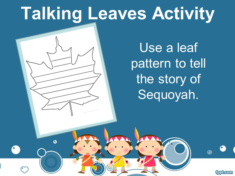 Talking Leaves Activity