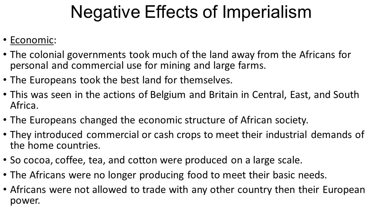 economics effects of colonialism essay Advantages and disadvantages of the colonialism history essay benefits of colonization 4 positive & negative effects of colonialism.