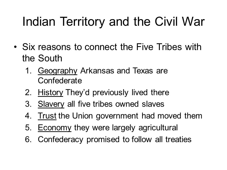 Indian Territory and the Civil War