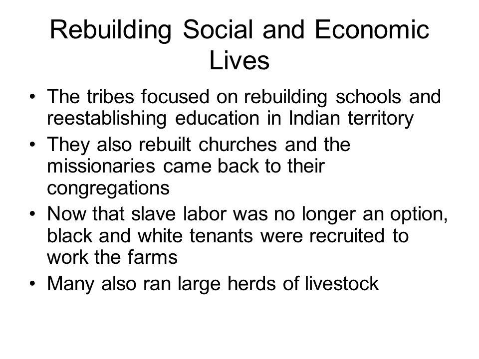 Rebuilding Social and Economic Lives