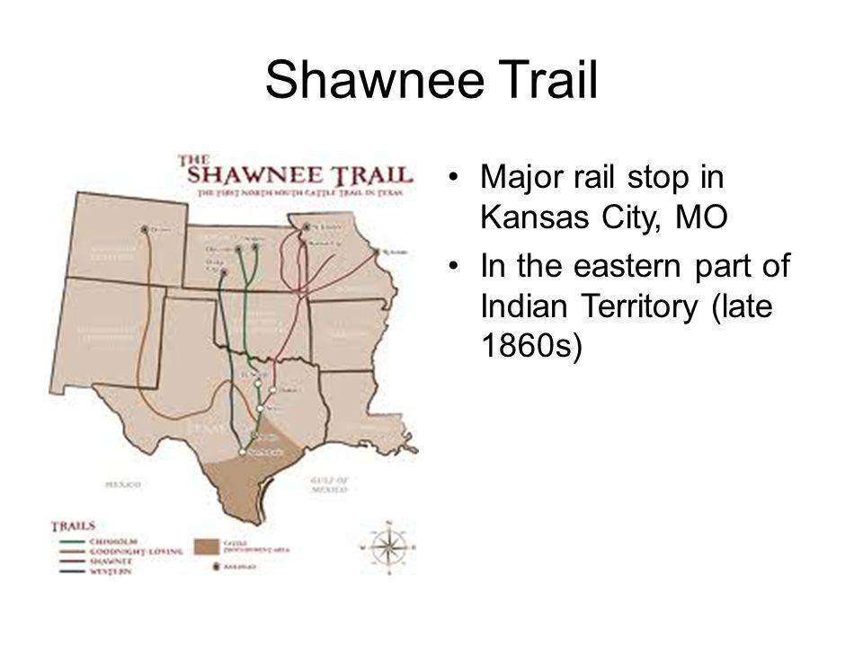Shawnee Trail Major rail stop in Kansas City, MO