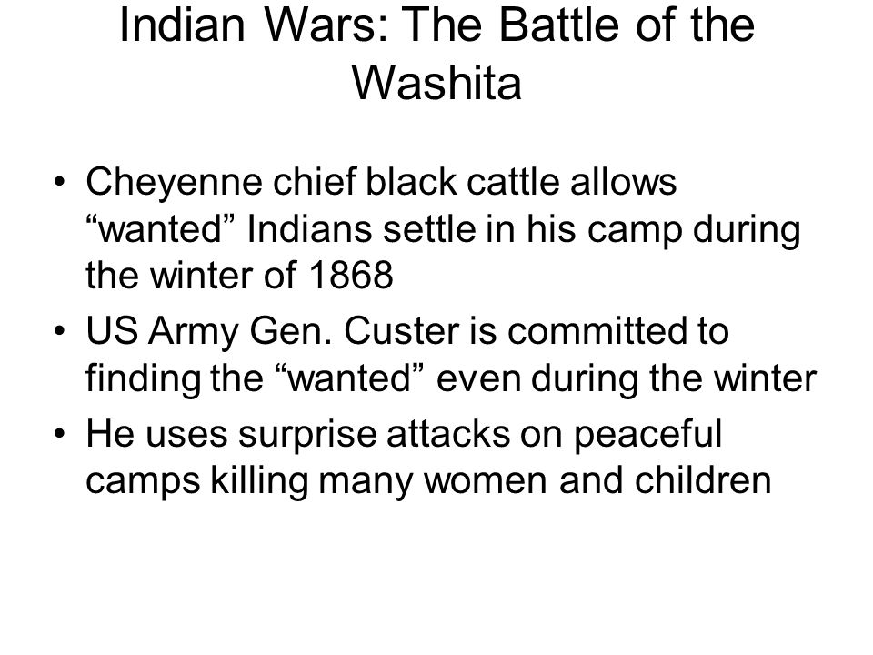 Indian Wars: The Battle of the Washita