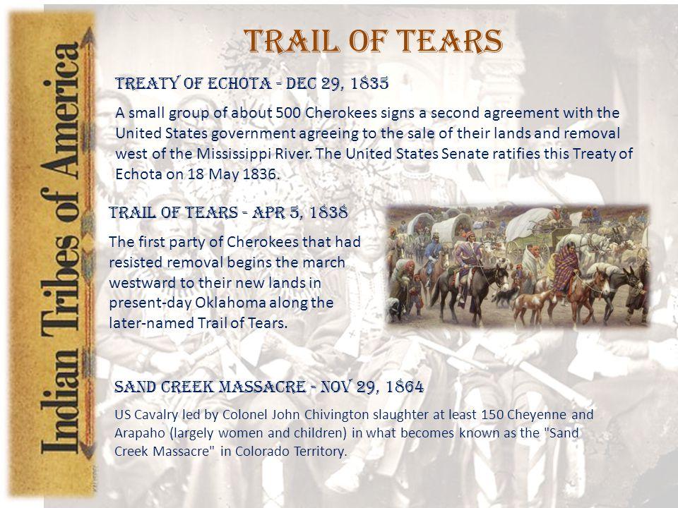 Trail of Tears Treaty of Echota - Dec 29, 1835