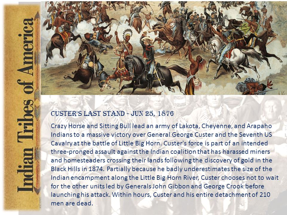 Introduction Custer s Last Stand - Jun 25, 1876