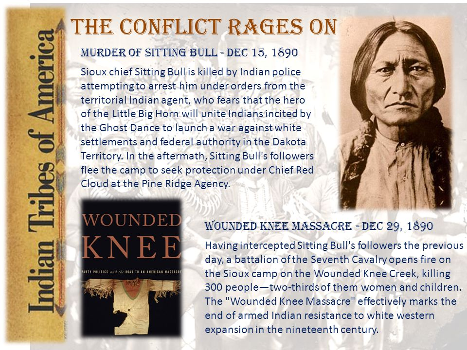 The Conflict Rages On Murder of Sitting Bull - Dec 15, 1890