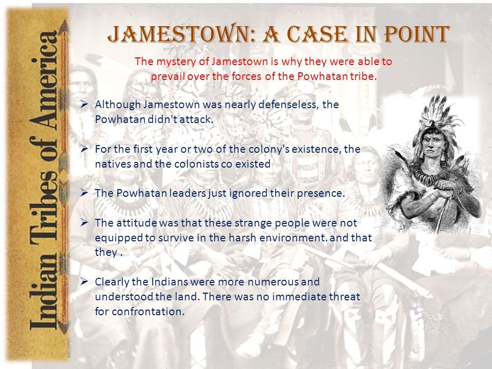 Jamestown: A Case in Point
