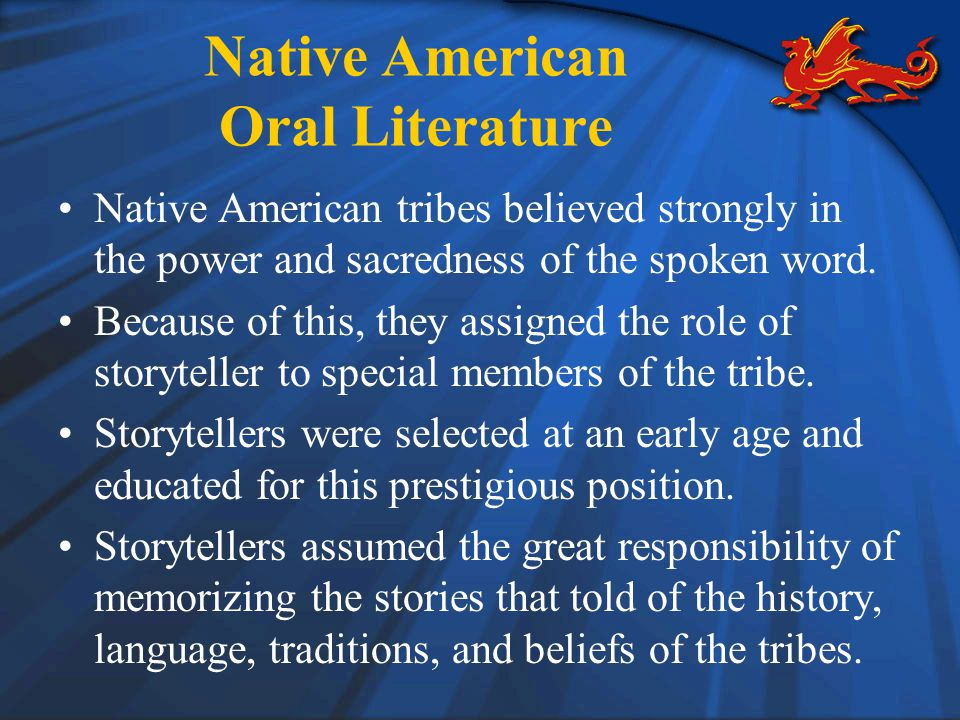 Native American Oral Literature