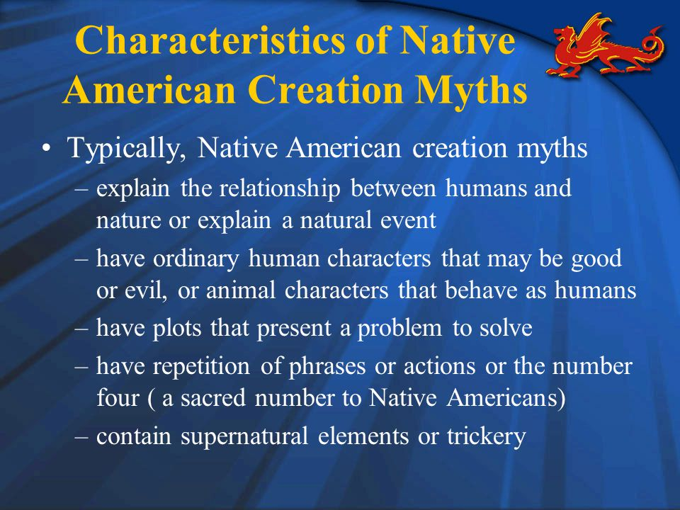Characteristics of Native American Creation Myths