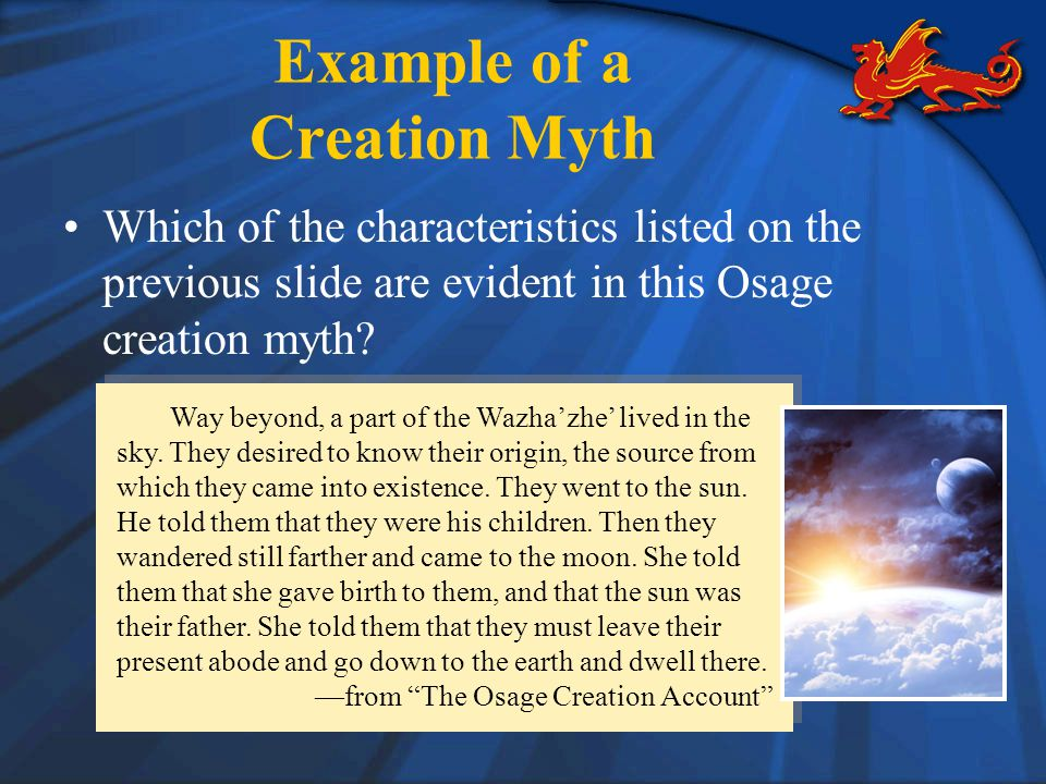 Example of a Creation Myth