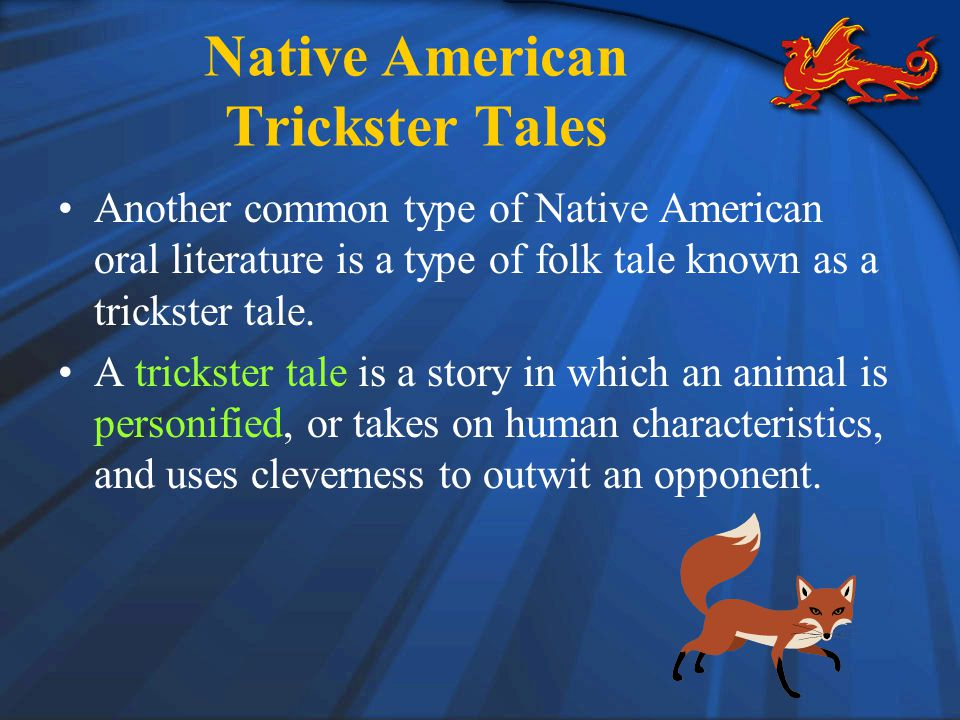 the native american trickster tales a Database of native american trickster figures from various tribes.