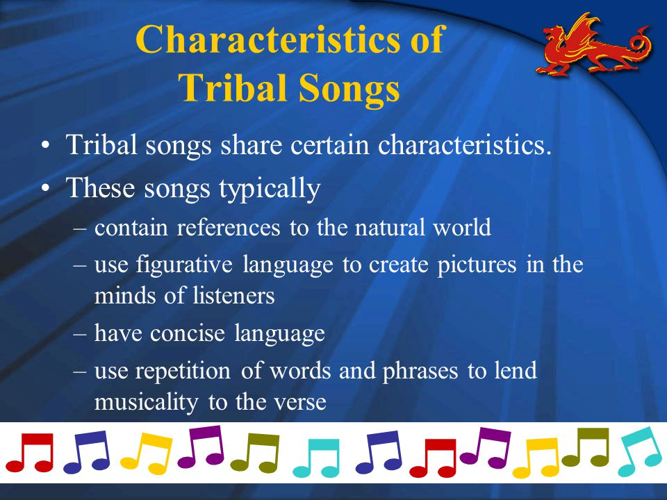 Characteristics of Tribal Songs