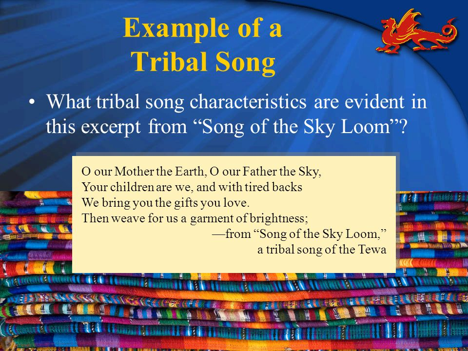 Example of a Tribal Song