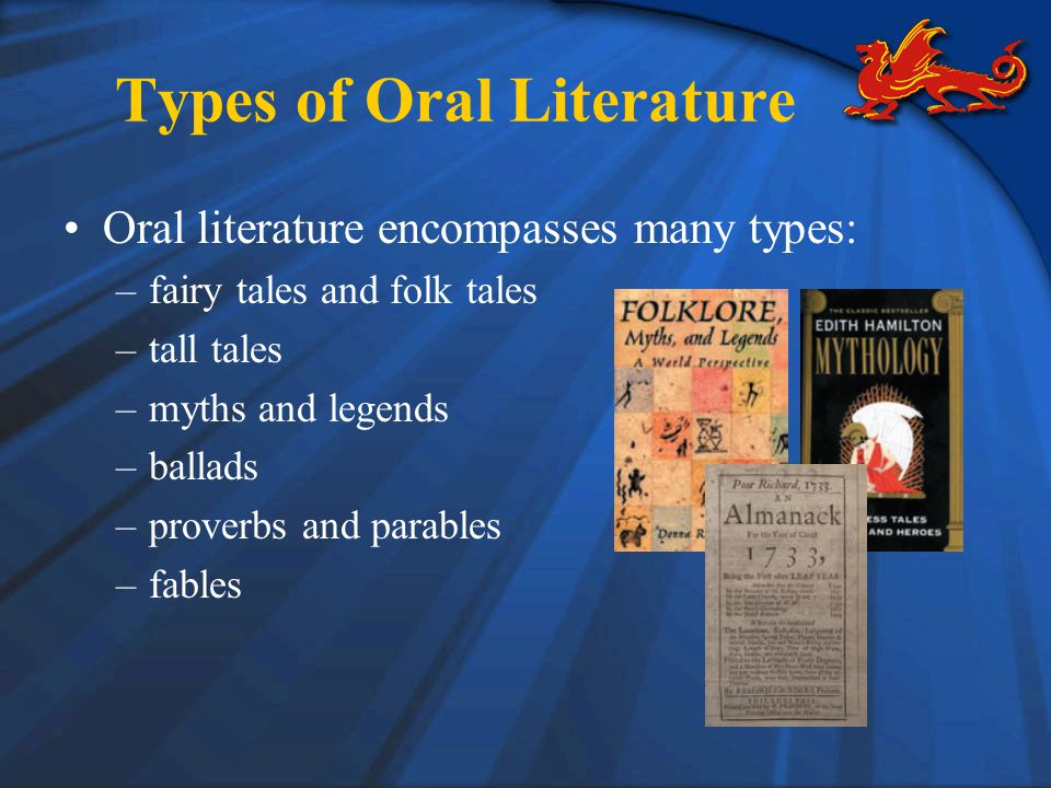 Types of Oral Literature