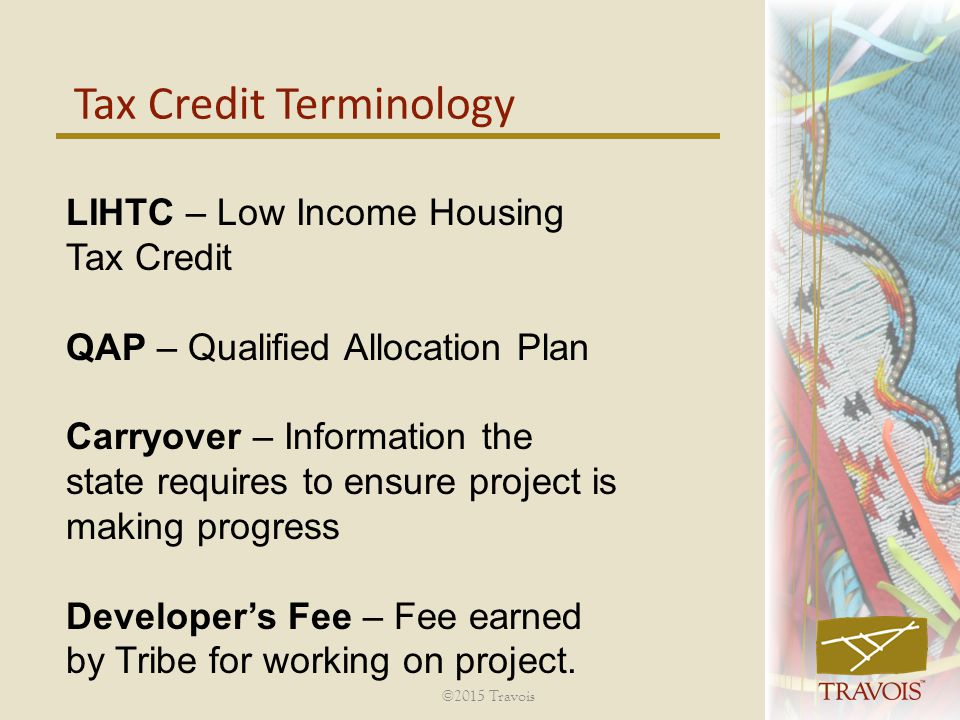 Tax Credit Terminology
