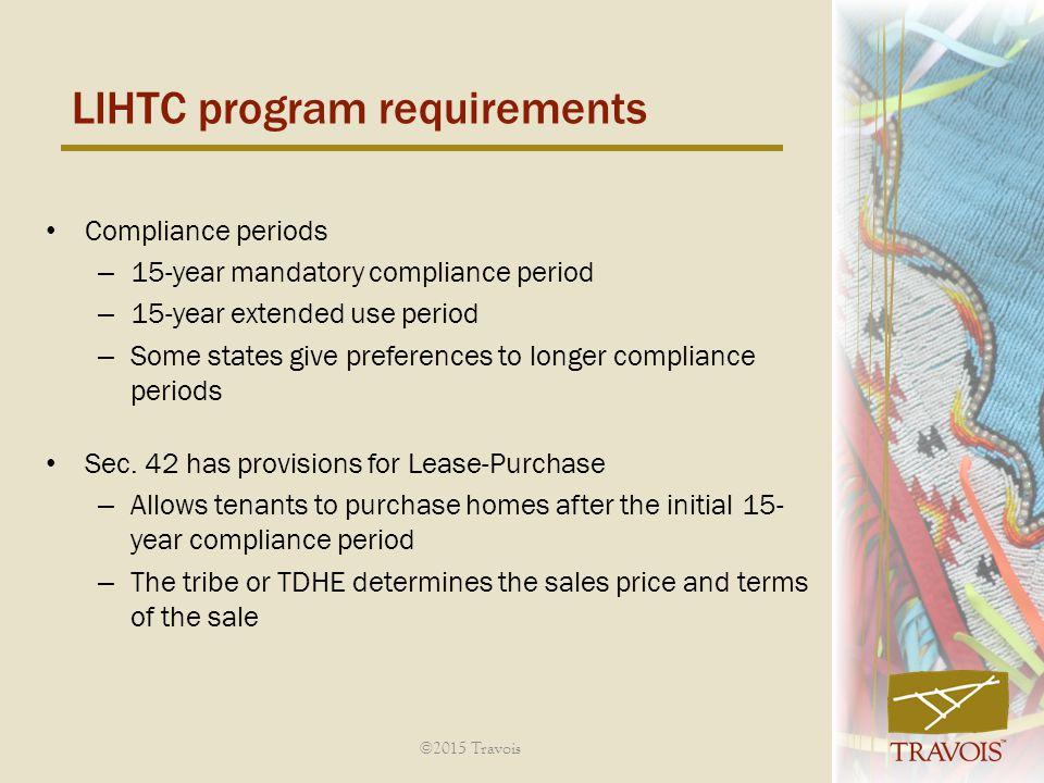 LIHTC program requirements
