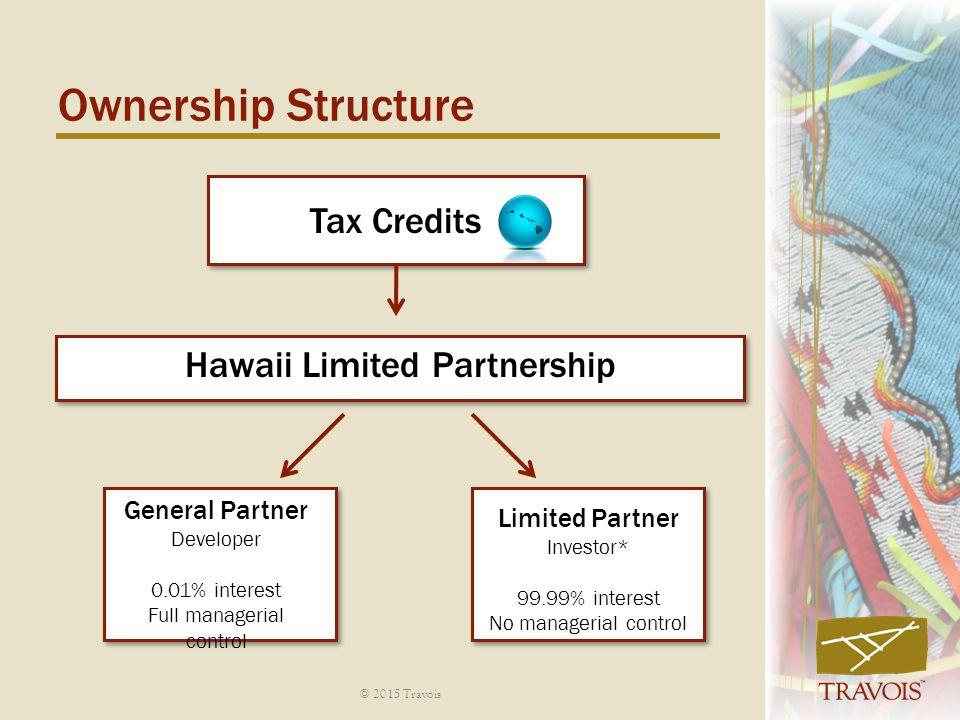 Ownership Structure Tax Credits Hawaii Limited Partnership