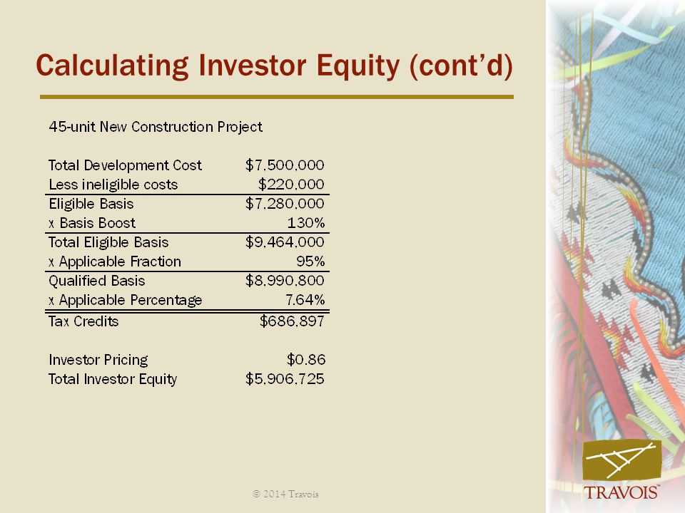Calculating Investor Equity (cont'd)