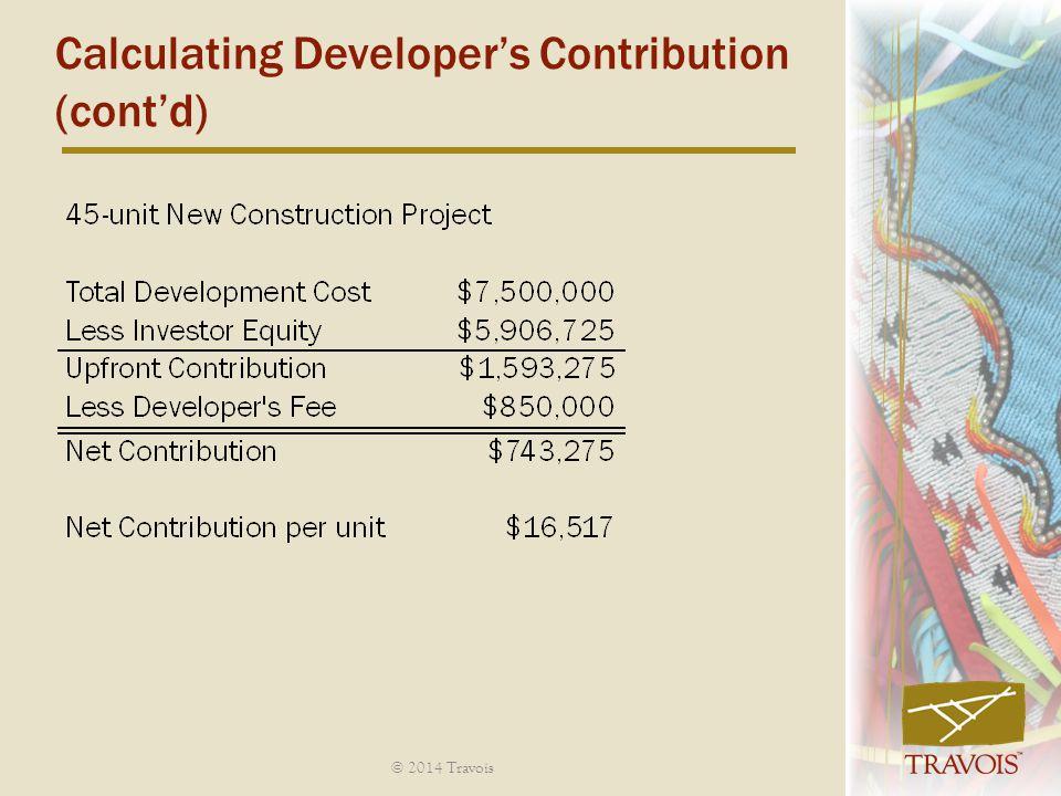 Calculating Developer's Contribution (cont'd)