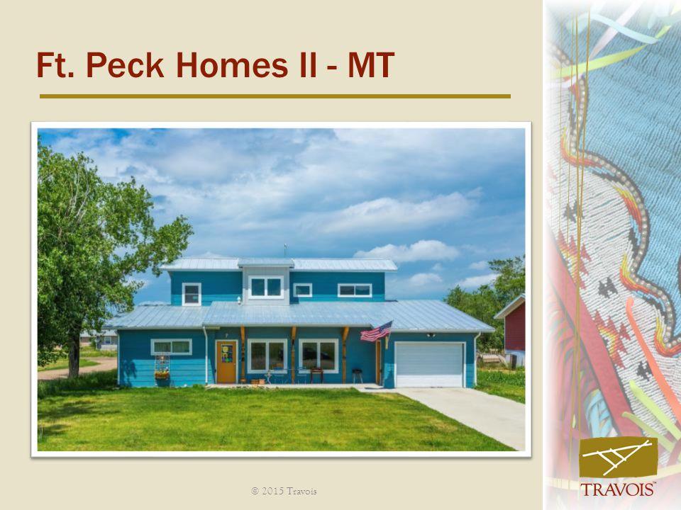 Ft. Peck Homes II - MT © 2015 Travois