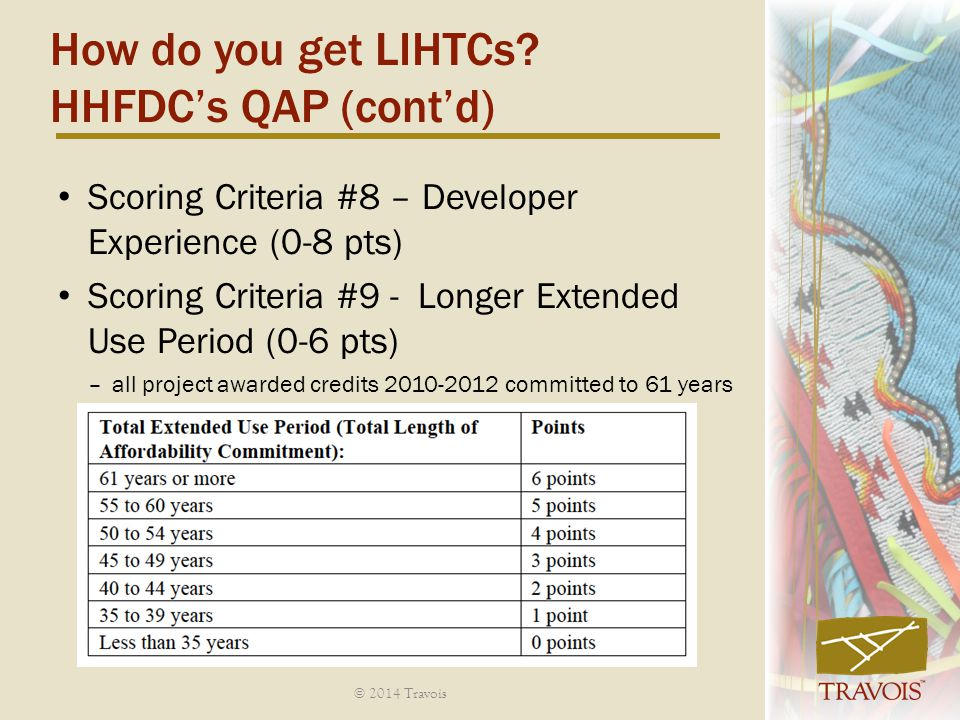 How do you get LIHTCs HHFDC's QAP (cont'd)
