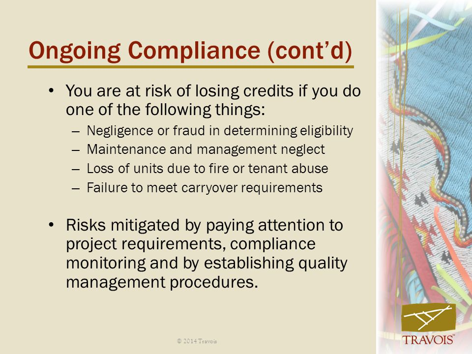 Ongoing Compliance (cont'd)