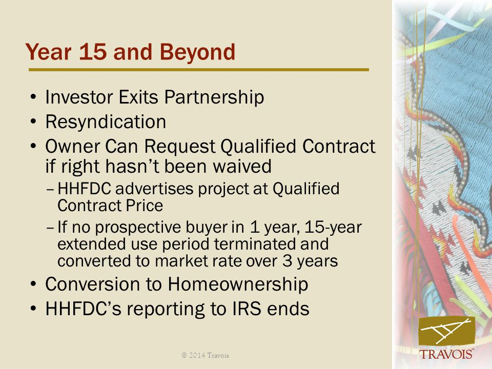 Year 15 and Beyond Investor Exits Partnership Resyndication