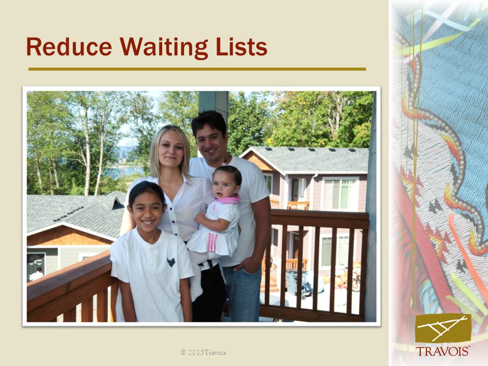 Reduce Waiting Lists © 2015Travois