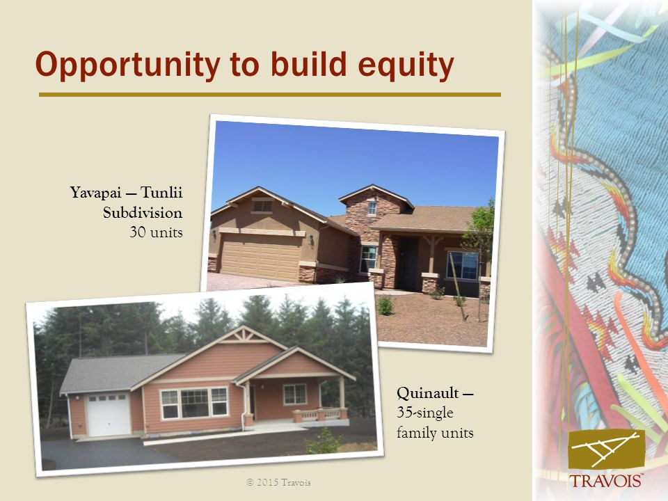 Opportunity to build equity