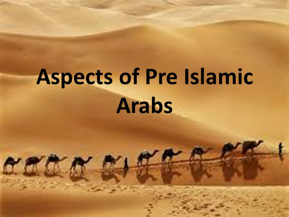 Aspects of Pre Islamic Arabs
