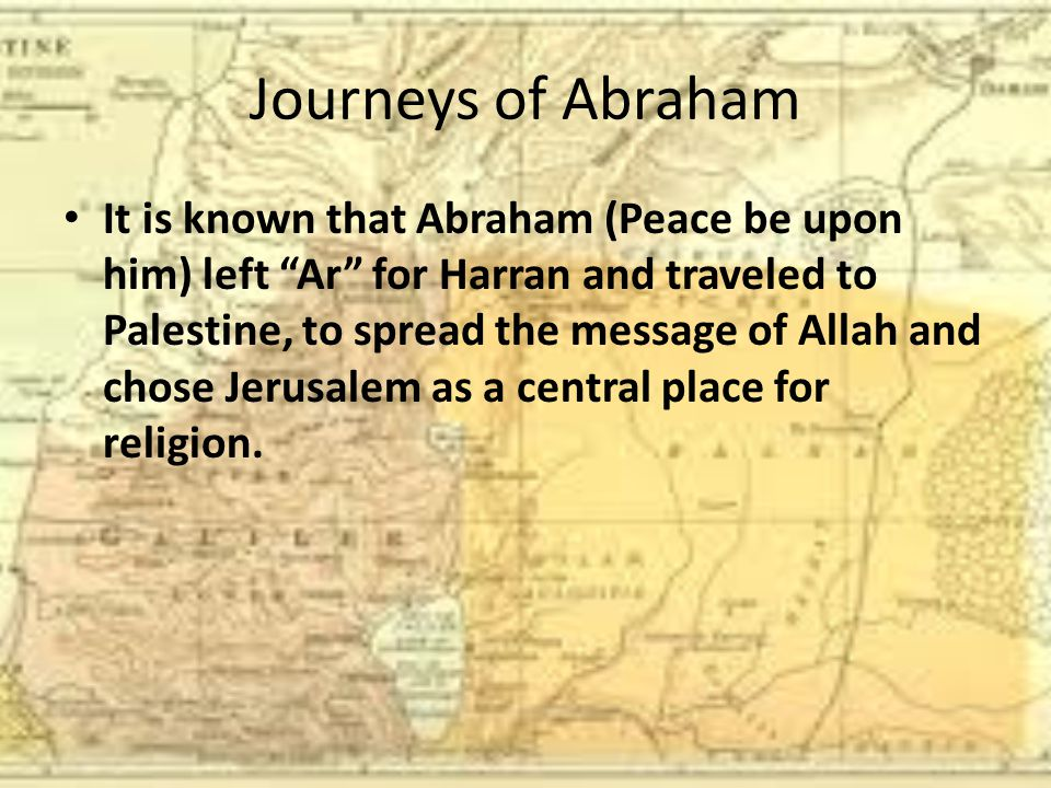 Journeys of Abraham