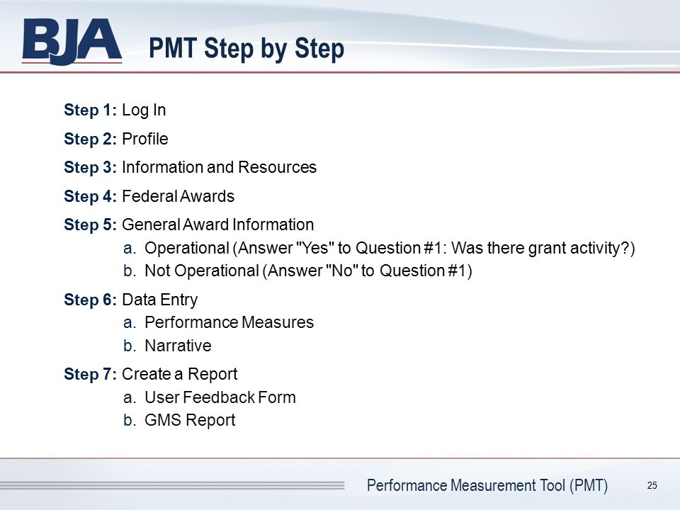 PMT Step by Step