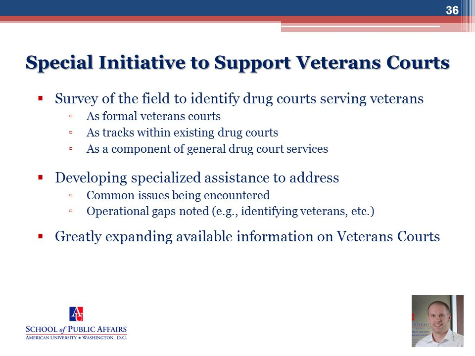 Special Initiative to Support Veterans Courts