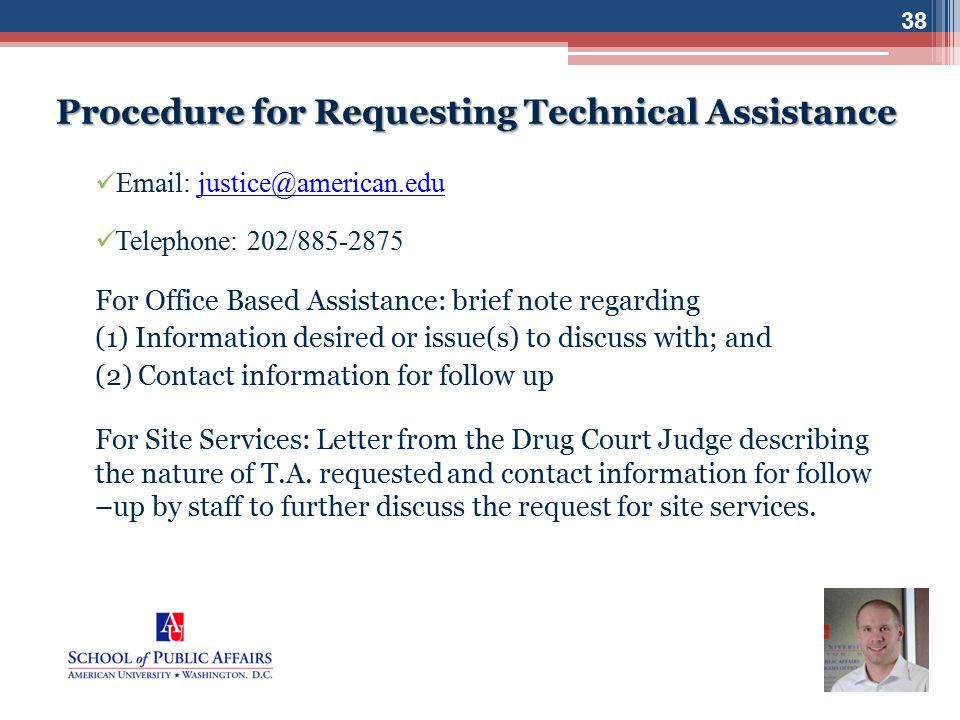 Procedure for Requesting Technical Assistance