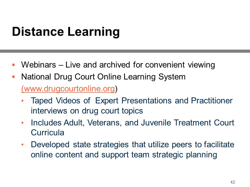 Distance Learning Webinars – Live and archived for convenient viewing