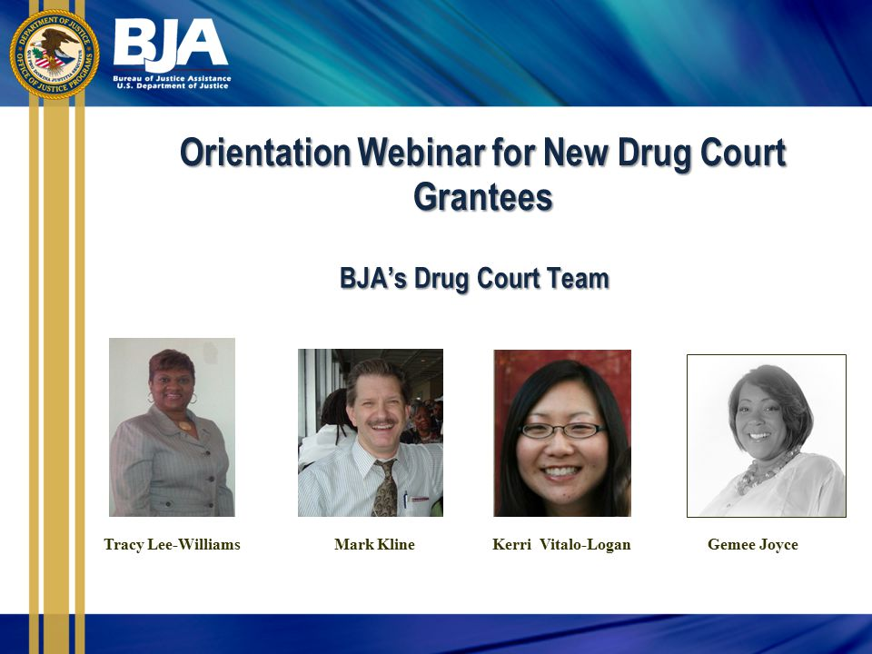 Orientation Webinar for New Drug Court Grantees