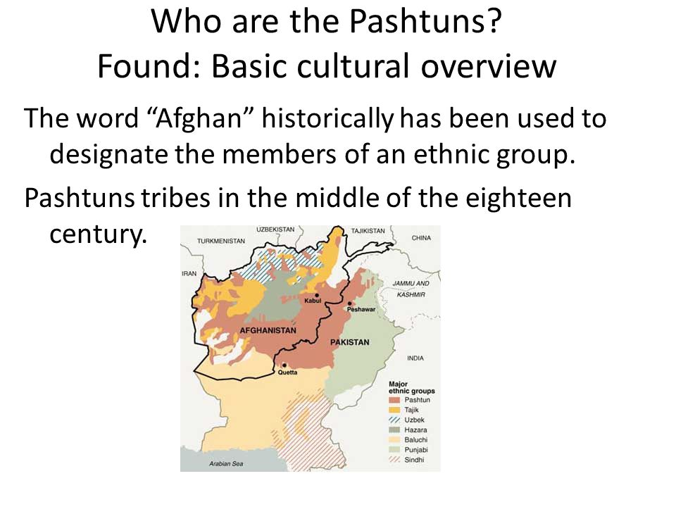 Who are the Pashtuns Found: Basic cultural overview