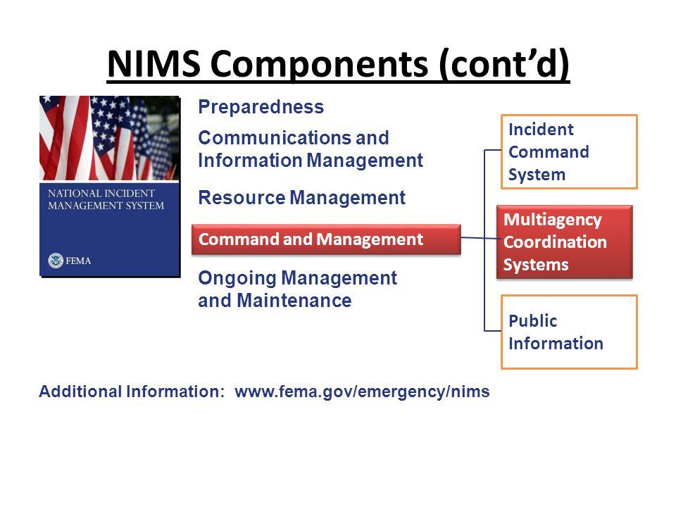 NIMS Components (cont'd)