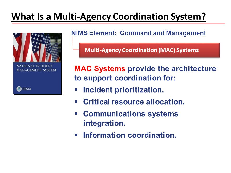 What Is a Multi-Agency Coordination System