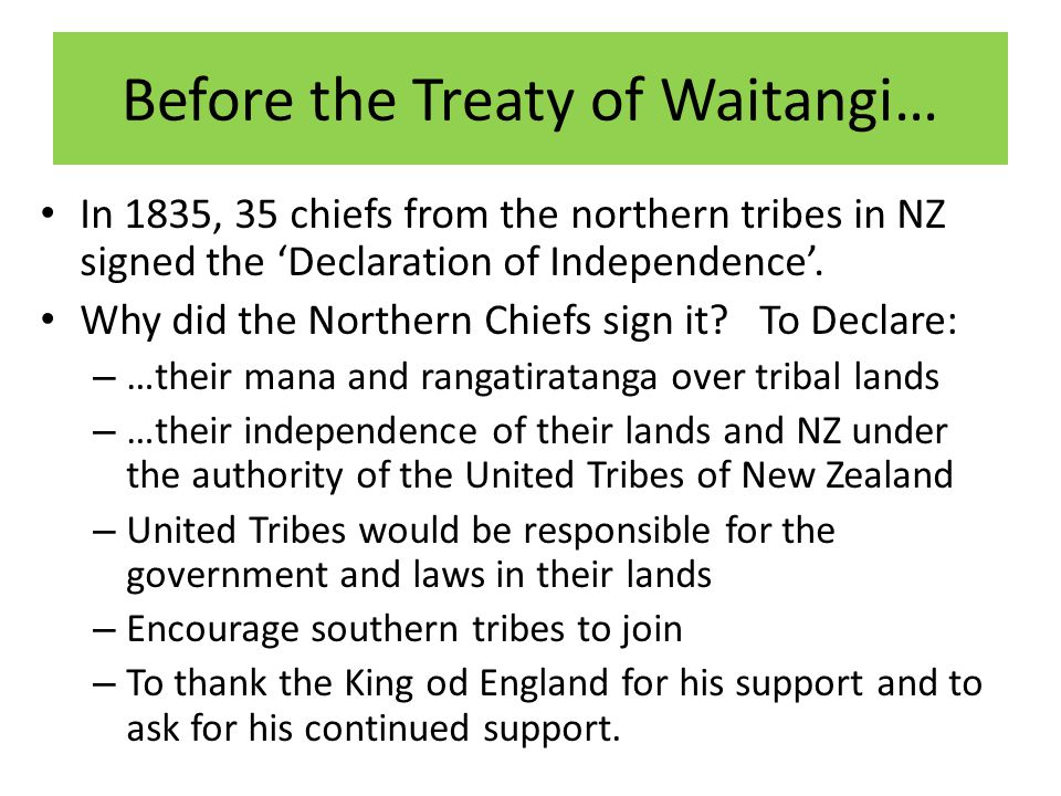 Before the Treaty of Waitangi…