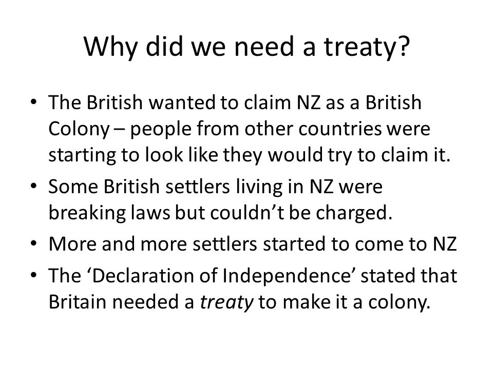 Why did we need a treaty