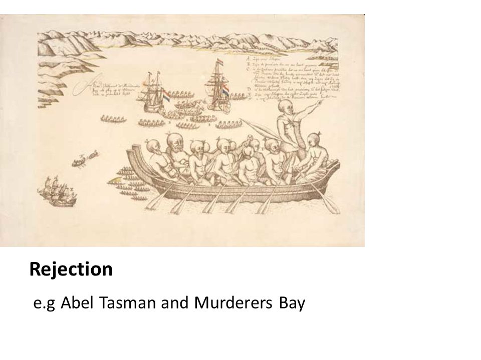 Rejection e.g Abel Tasman and Murderers Bay