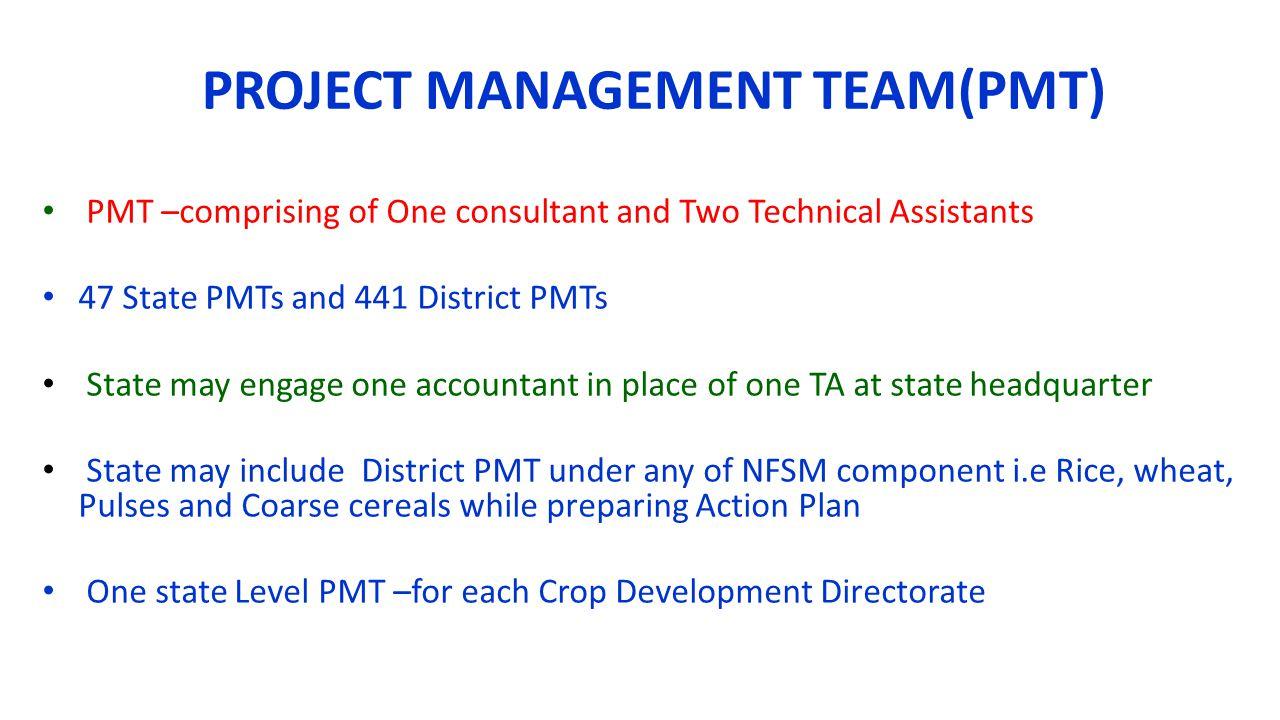 PROJECT MANAGEMENT TEAM(PMT)