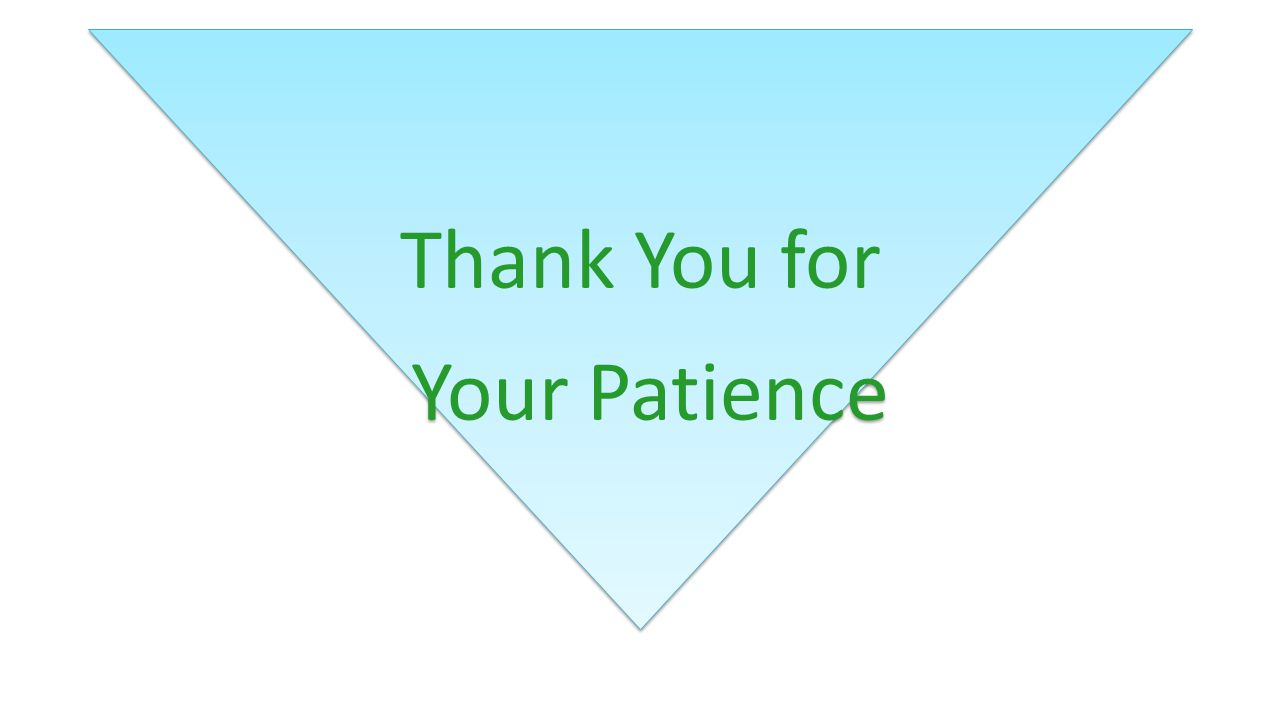 Your Patience Thank You for