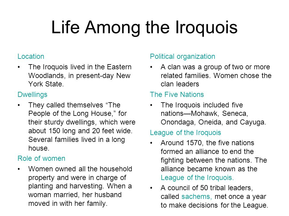 Life Among the Iroquois