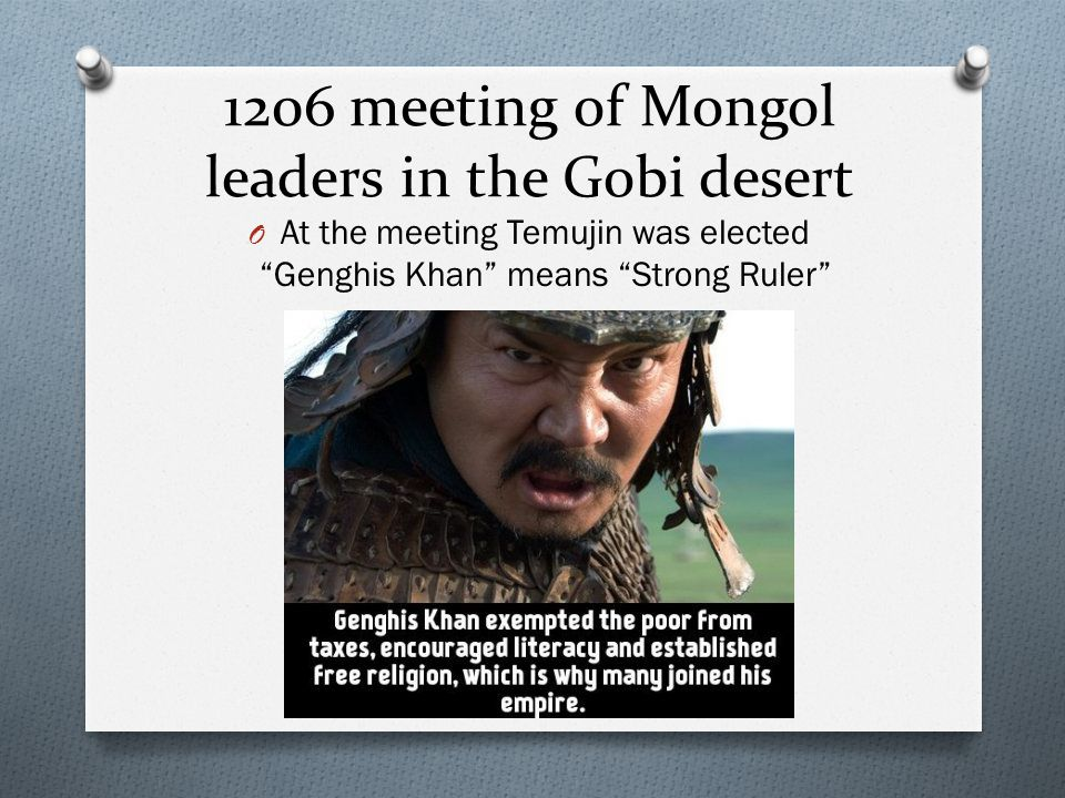 1206 meeting of Mongol leaders in the Gobi desert