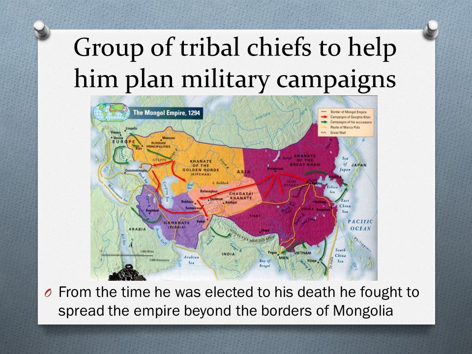 Group of tribal chiefs to help him plan military campaigns