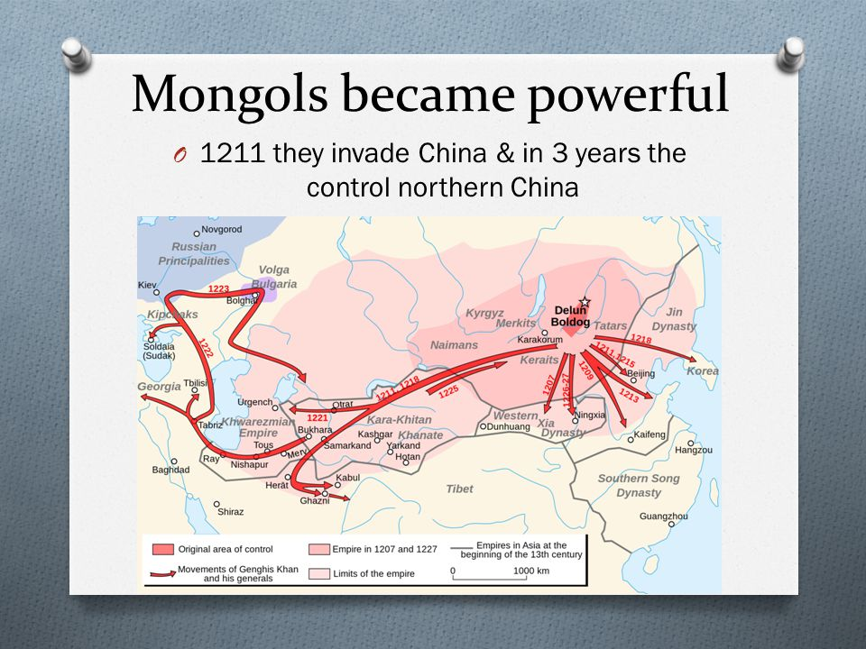 Mongols became powerful