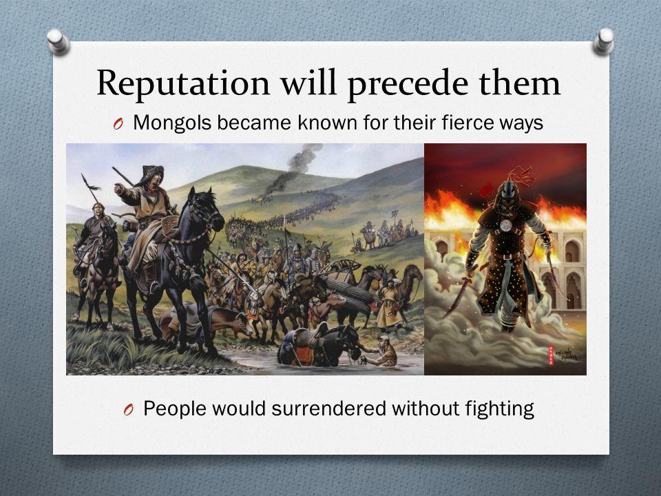 Reputation will precede them