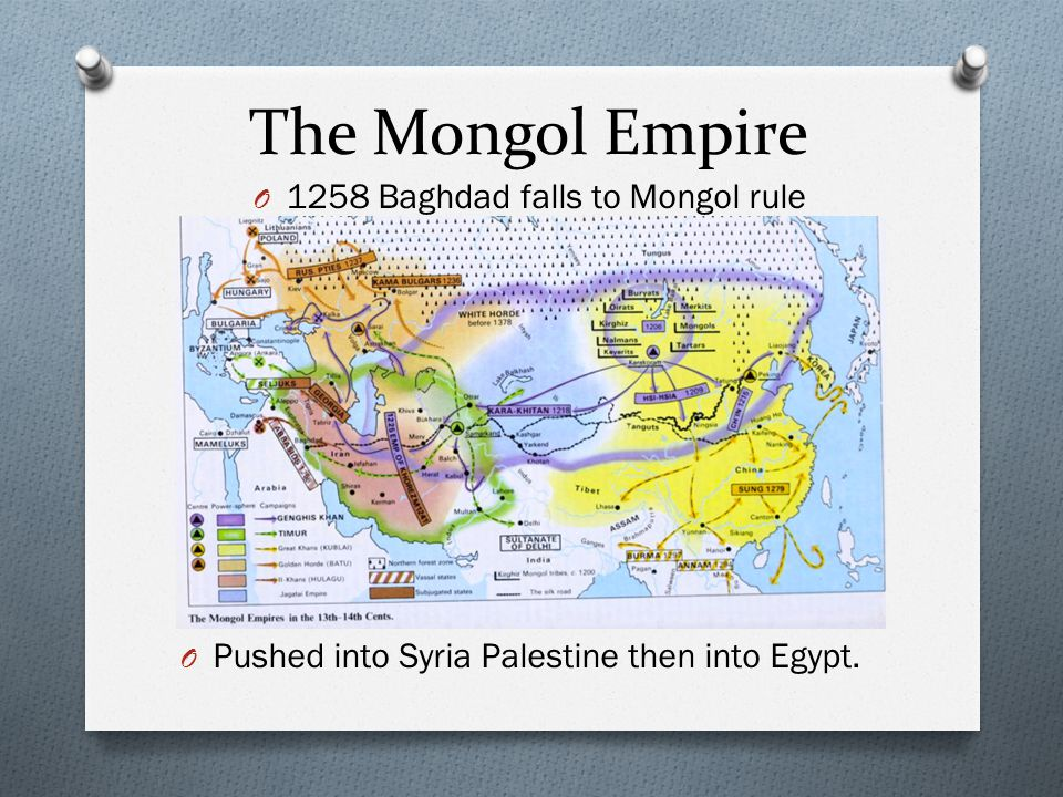 1258 Baghdad falls to Mongol rule