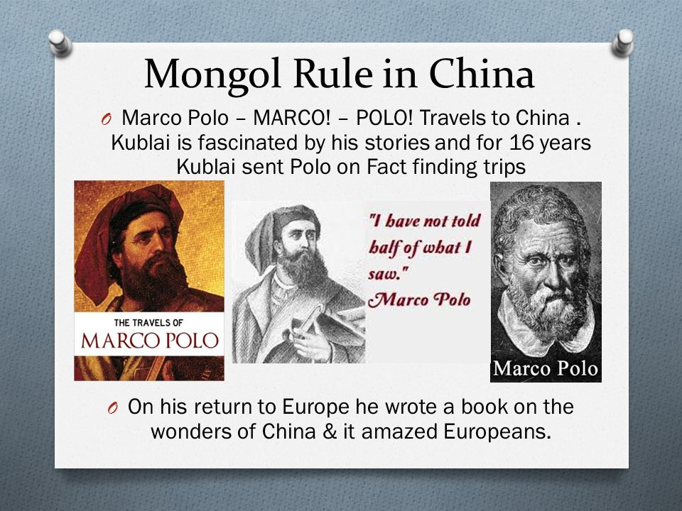 Mongol Rule in China